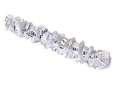 silver sequin wedding leg garter
