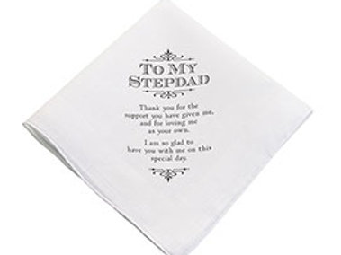 stepdad hankie wedding gift