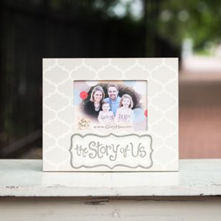 story of us picture frame gray white