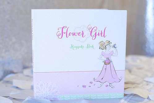 pink flower girl keepsake book