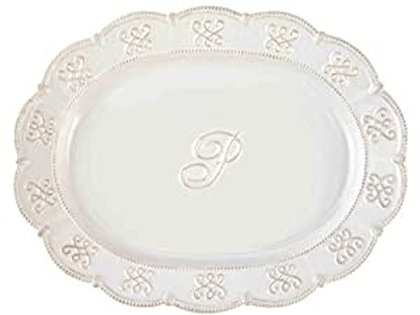 Initial Oval Platter P