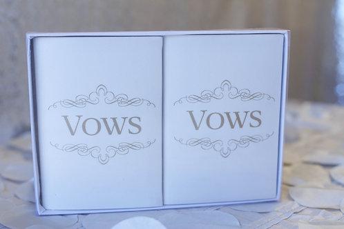ivory satin wedding vow books