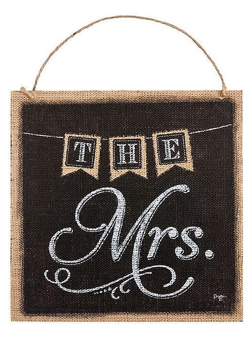 The Mrs. Burlap Sign