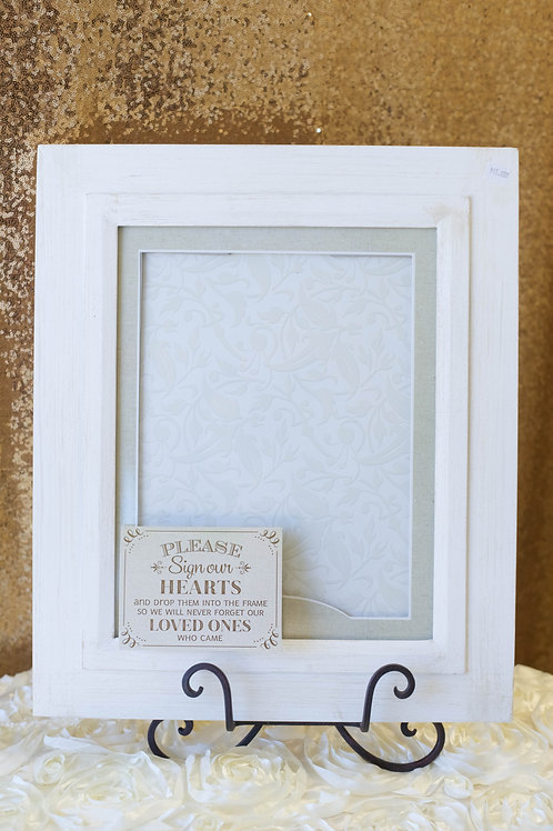 wedding guest book alternative sign hearts frame