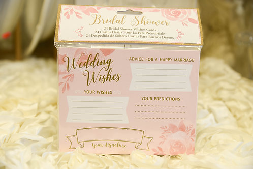 24 Bridal Shower Wishes Cards
