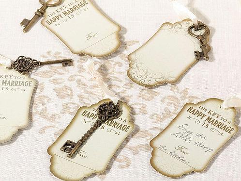 wedding guest book alternative ideas vintage keys bronze