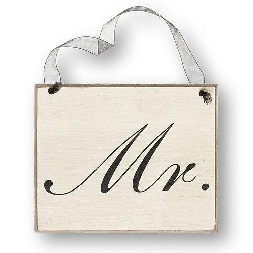 black and white wedding, mr. sign, hanging wedding sign, wedding decor, reception decor, wedding chair sign, groom
