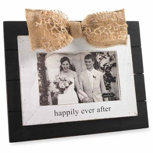 happily ever after wedding picture frame gift