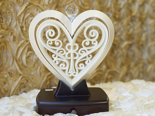 Unity heart ivory, ivory wedding decor, unity heart, unity ceremony, elegant wedding