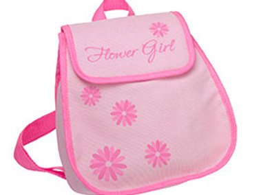 pink flower girl backpack gift