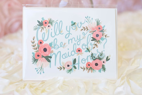 will you be my maid of honor card wedding planning