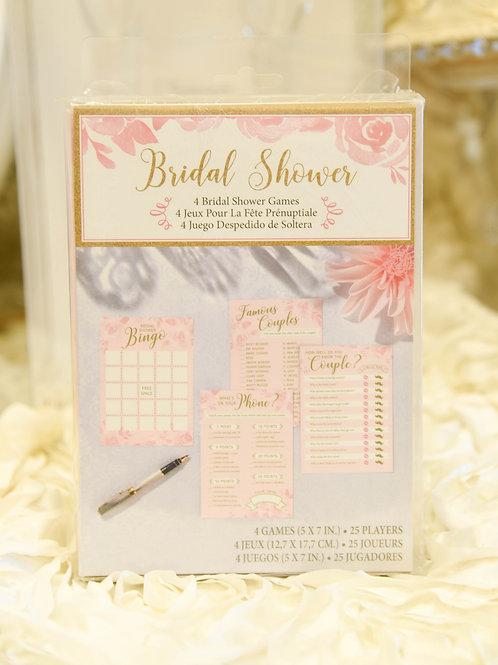 pink wedding, pink bridal shower, wedding shower, bridal shower games, shower bingo, famous couples,