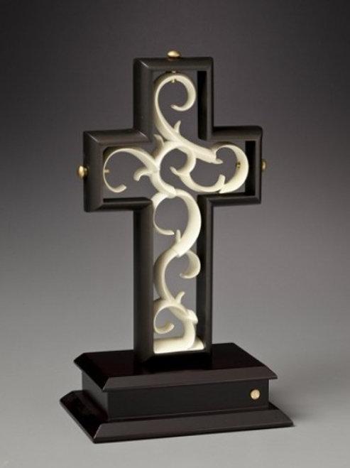 Unity Cross - Rubbed Bronze & Ivory