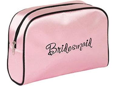 pink black bridesmaid travel bag gift wedding planning