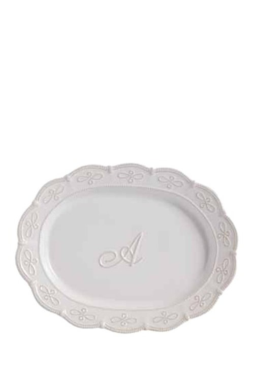 Initial Oval Platter A