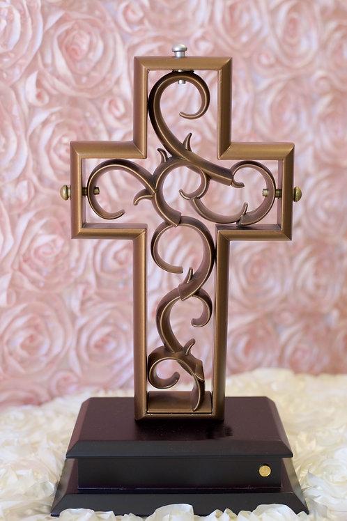 antique bronze unity cross