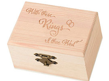 pine ring bearer wood box with this ring