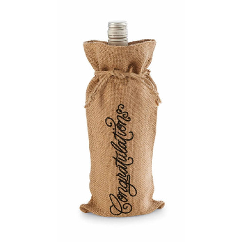 congratulations wedding gift burlap wine bag