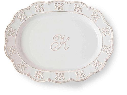 Initial Oval Platter K