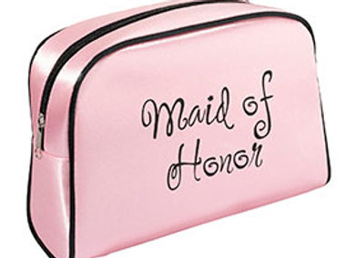 maid of honor pink black travel bag gift
