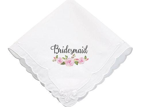 Watercolor Floral Bridesmaid Keepsake Hankie
