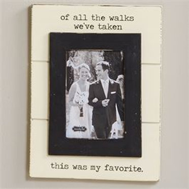 all of the walks we've taken black and white picture frame