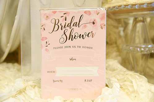 pink and gold wedding, pink and gold bridal shower, bridal shower invitations, wedding shower, pink and gold shower