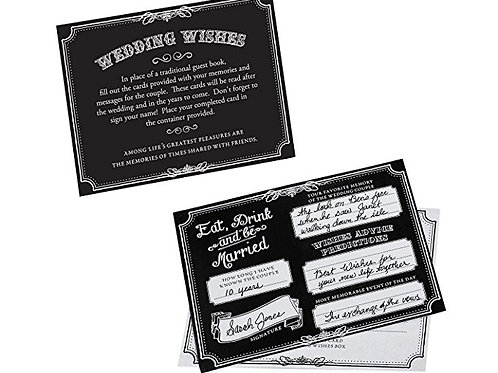 Guest Book Alternative Black Wedding Advice Cards