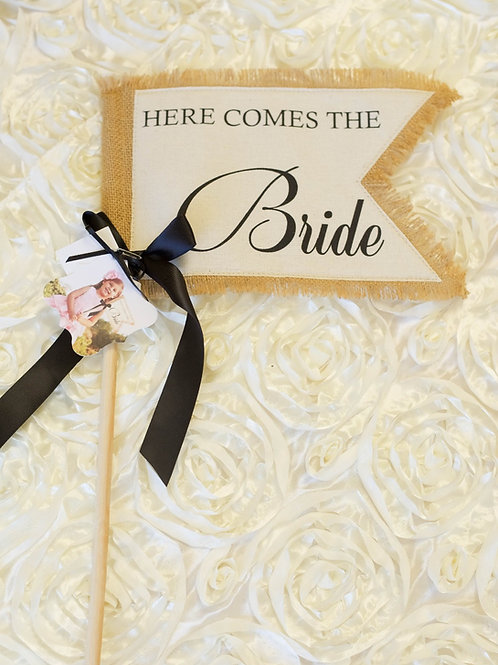 Here Comes The Bride Flag flower girl ring bearer alternative