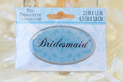 blue bridesmaid pin wedding bridal shower