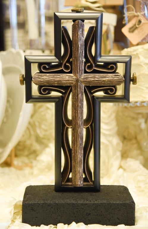 Black And Bronze Unity Cross Wedding Ceremony Faith