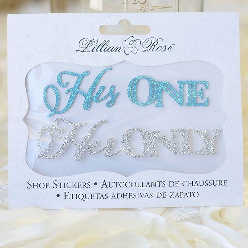 his one her only wedding shoe stickers photo ideas i do boutique