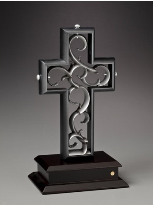 The Unity Cross - Slate Black and Antique Pewter