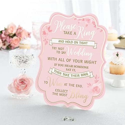 Bridal Shower Game (25 Rings)