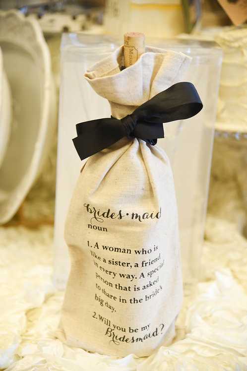 bridesmaid gift ideas, wedding planning, wedding gift ideas, bridesmaid ask, wine bag, bridesmaid wine bag