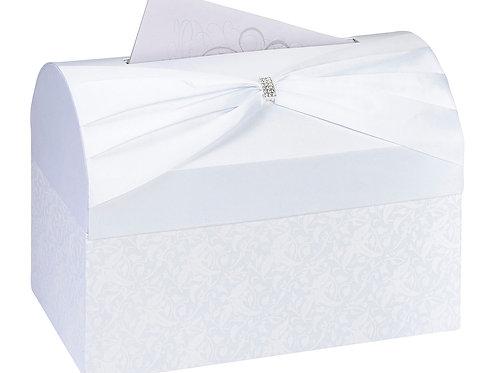 white satin wedding card box wedding planning