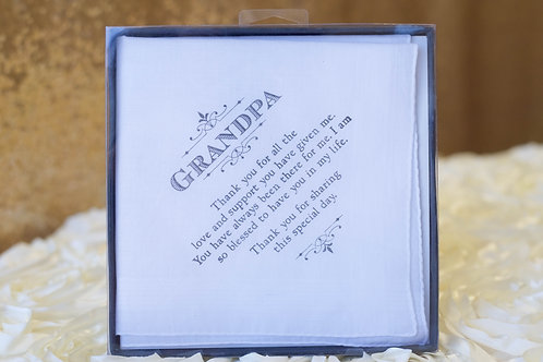 grandpa hankie grandfather wedding gift