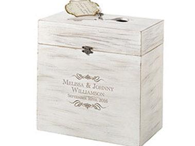 wood key wedding card box