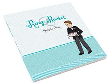 ring bearer keepsake activity book blue