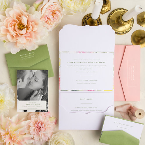 minimalist pink custom wedding invitations save the date i do boutique cypress tx houston wedding