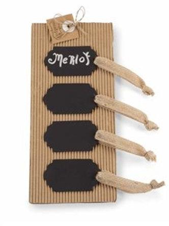 tin chalkboard tags, chalk tags, burlap tags, gift tags, chalkboard labels