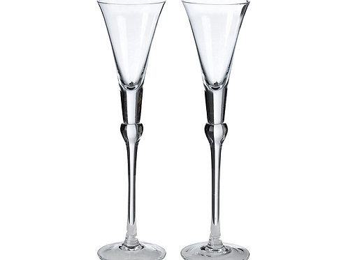 Simple Glass Wedding Toasting Flutes Glasses