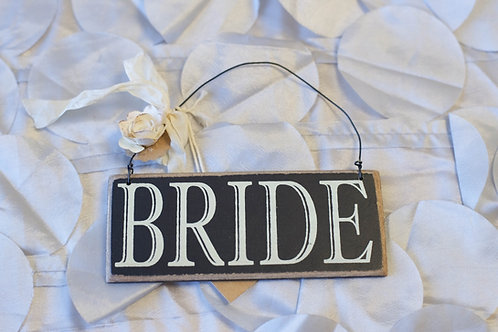 bride hanging chair sign black ivory