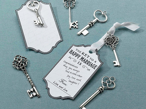 wedding guest book alternative ideas vintage keys silver