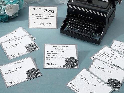 guest book alternative wedding advice cards