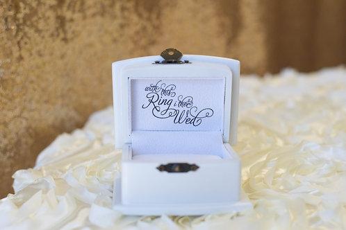 white ring bearer box