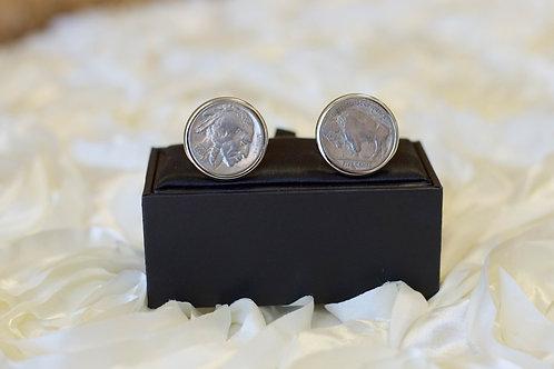 buffalo nickel silver cuff links wedding gift ideas