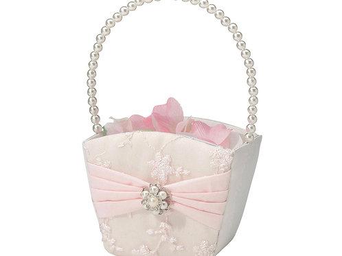 blush pink wedding, pink flower girl basket, rhinestone flower basket, flower girl, wedding ideas, flower girl