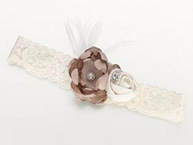 vintage lace ivory flower wedding leg garter