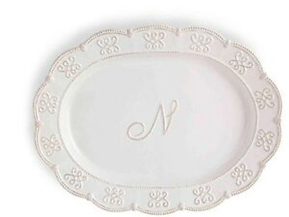 Initial Oval Platter N